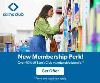 Membership perk and discount offer for Sam'S Club